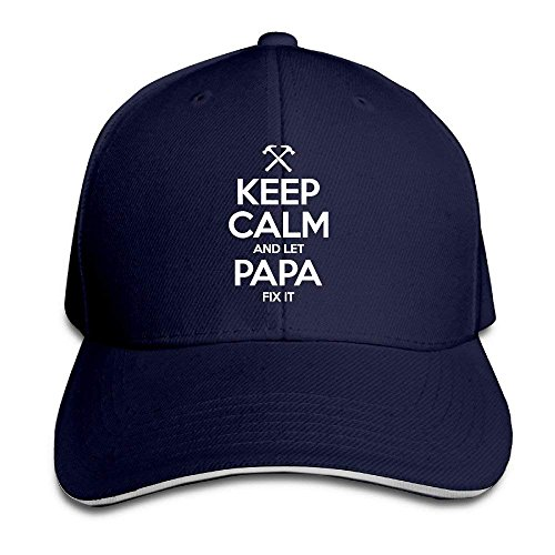 Keep Calm and Let Papa Fix It Snapback Personalized Fashion