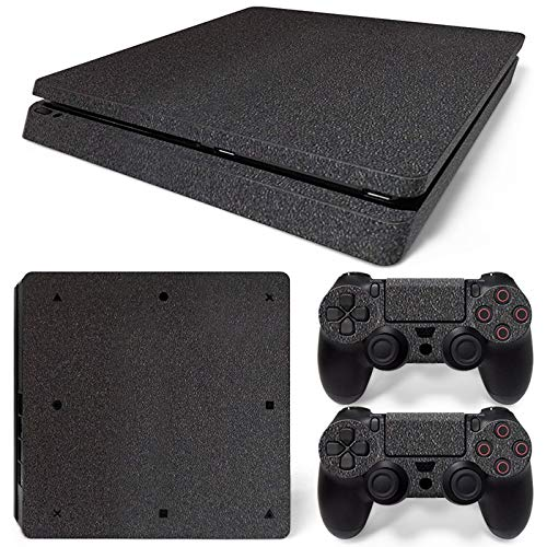 Mcbazel Pattern Series Vinyl Skin Sticker For PS4 Slim Controller & Console Protect Cover Decal Skin (Black)