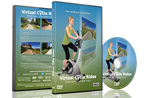Virtual Cycle Rides - Italian Dolomites - For Indoor Cycling, Treadmill and Running Workouts