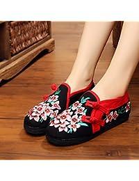 KHSKX Zapatos Viejos Mujeres Otoño Nuevo Estilo Popular De Algodón Transpirable Zapatos Mujer Zapatos Bordados...