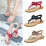 Lailailaily?Summer Sandals?Rhinestone Flowers?Casual?Beach?Slippers?Women's?Fashion?Shoes
