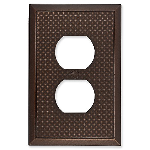 questech Pyramid Dekorative Switch Plate/-Auslass Cover Single Duplex 3PK Oil Rubbed Bronze (Light Switch Wall Plate)