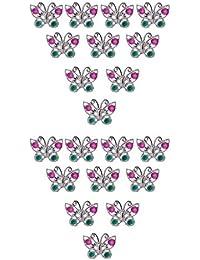 Hellery 10pcs Anillos De Mariposa De Plástico para El Favor De Los Regalos del Partido De La Muchacha Niños Plata