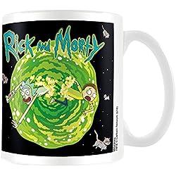Rick y Morty flotante Cat Dimensión taza de cerámica, multicolor