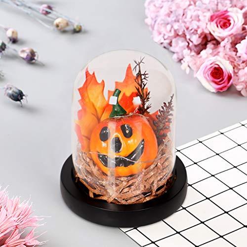 Eliasan Halloween Requisiten Glas Kürbis Halloween Dekor Cosplay Ornament für Haus Bar Home Garden Party Indoor
