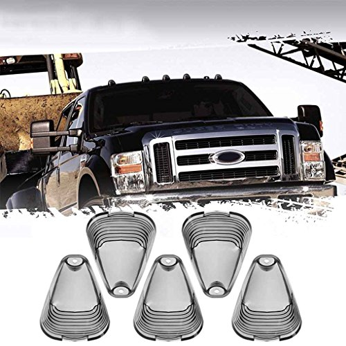 5pcs / Courir Smoke Light Toit BOM Marker Couverture Abat-Jour supérieur Lampe pour Objectif 99-16 Ford F-250 350 450 Regard