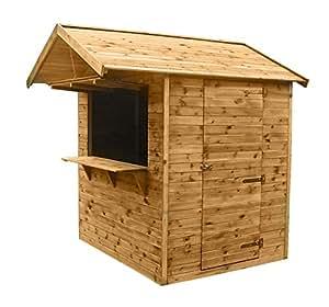 verkaufsstand 183 x 150 x 230 cm marktstand verkaufsh tte verkaufsladen aus holz kdi inkl. Black Bedroom Furniture Sets. Home Design Ideas