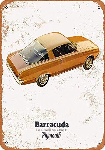 Wise Degree 1965 Plymouth Barracuda Metallblechschild Poster Wand K¨¹Che Kunst Cafe Garage Shop Bar Dekoration -