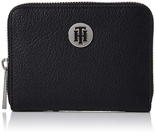 Tommy Hilfiger Damen Th Core Compact Za Wallet Geldbörse, Schwarz (Black), 1x1x1 cm (Damen Compact)