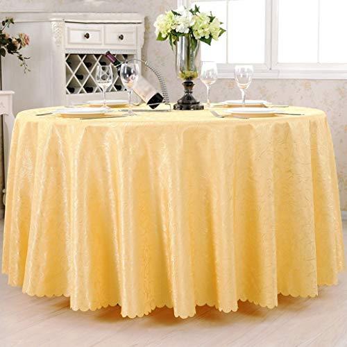 g Tischplatte Tischdecke Tischdecke Tischdecken Hotel Runde Tischdecke Konferenzsaal Ausstellung Essen Chemische Faser Mehrzweck Innen und Außen, Rund 380cm, 2 ()