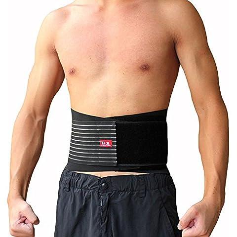 Tofern Doppia Trazione Lombare Supporto In Acciaio Regolabile Rimane Support Cintura Lombare Brace Trimmer Cintura-S