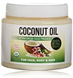 Coconut Oil For Skin, Keeps Skin Beautifully Soft, Looking Younger and Provides Intense Protection; 100% Organic - 500 ml