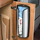 Stainless Steel Carrier Plastic Bag Stor Store Storage Holder Box Kitchen Tidy