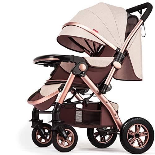 BLWX - Haute Paysage Poussette Peut s'asseoir inclinable léger Pliant bébé Parapluie Quatre Roues bébé léger système de Voyage Voiture Poussette Poussette (Couleur : I)