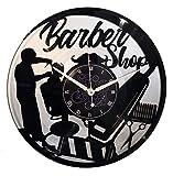 Instant Karma Clocks Orologio in Vinile Doppio da Parete LP 33 Giri Idea Regalo Vintage Barba Parrucchiere Salone Bellezza Barbiere Barber Shop (Argento), Silenzioso