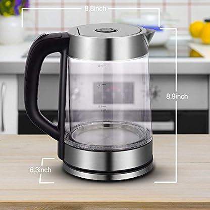 Glas-Wasserkocher-Elektrischer-Wasserkessel-Teekocher-Teekessel-Kettle-Kabellos-LED-Beleuchtung-17-Liter-2200-Watt