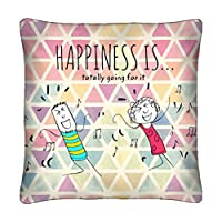 Portico Happiness Cushion, Green, 40 X 40cm, 8490651