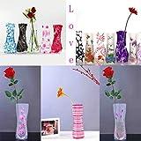 Kunststoff Faltbare Blumenvase, Mix Styles zusammenklappbar Vase, abcsea Farben Home Dekoration Kunststoff klappbar Flower Vase (zufällige Styles) Multicolor1