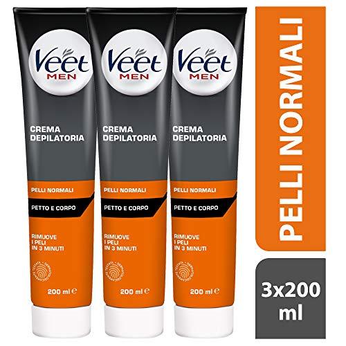 Veet For Men Pelli Normali (Depilazione Classica, 3 Confezioni Da 200milliliter)
