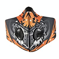 Anti Dust Mask Motorcycle Bicycle Cycling Ski Dustproof Half Face Mask Filter - orange color