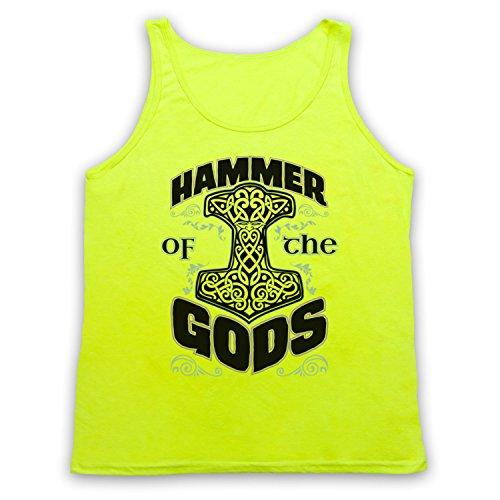 Hammer Of The Gods Thor Tank-Top Weste Neon Gelb