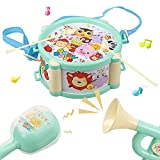 BAYBEE Plastic Musical Instrument Drum Set for Boys and Girls (Assorted Colour)