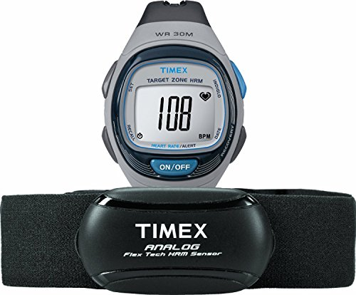 Timex Unisex Digital Quarz Uhr mit Kautschuk Armband T5K738F7 - Timex 16mm Watch Band