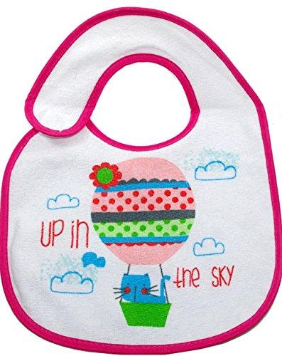 Baby Lätzchen rosa Mädchen mit PEVA Rückseite - 2-er Pack - 3