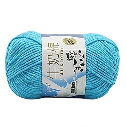 Strickgarn, wuayi 1pc 50g geschoben farbenfrohes Hand stricken Noten Milch Baumwolle handworked Hat Schuhe Pullover B (Stricken Noten)