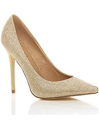 c5f6e8127f332 Donna tacco alto lavoro festa elegante scarpe de moda décolleté a punta  taglia