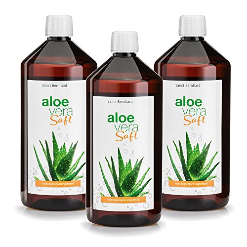 Sanct Bernhard Aloe-Vera-Saft unverdünnt, IASC-Qualität, 3 x 1000 ml -