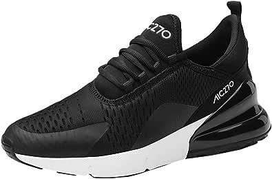 populalar - Scarpe da corsa, da uomo e da donna, scarpe da ginnastica, sneaker traspiranti, per corsa, fitness, palestra, outdoor, leggere., Nero (2 bianco e nero), 39 EU