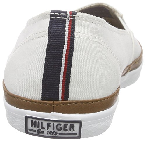 Tommy Hilfiger Damen K1285esha 7d Slipper Weiß (SNOW WHITE 118)