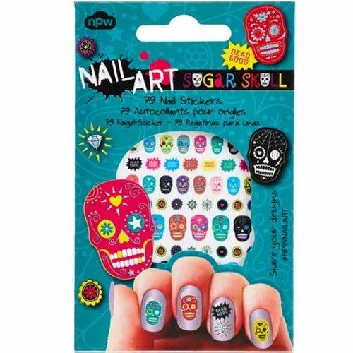 Sugar Skull Nail Art 79 Sticker Pack by ()