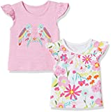 #10: Mothercare Baby Girls' T-Shirt (Pack of 2)(H6340_Brigm_3-6 M)