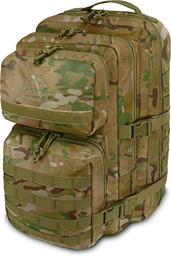 normani Kabinenrucksack geeignet als Handgepäck im Flugzeug, großer Reiserucksack mit 45 Litern Fassungsvermögen Farbe Multitarn