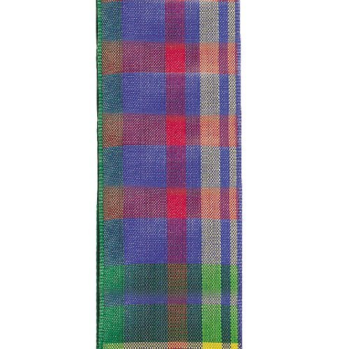 Offray Cameron Plaid Craft Ribbon, 1-1/2-Inch Wide by 10-Yard Spool, Bright by Offray -