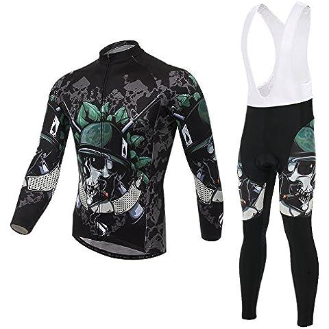 Spoz Men Cycling MTB Lattice Green Gel Padded Bid Jersey Set XXL
