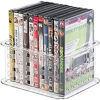 mDesign Contenitori Impilabili per DVD, Videogiochi e altro - Piccolo,