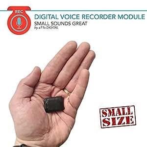 Mini Spia Registratore Vocale Digitale Professionale Suono HQ 1536 Kbps e Attivazione vocale | Piccole dimensioni e 24 ore batteria | 8GB - 570 ore Modulo Configurabile Microspia Audio SAM08B