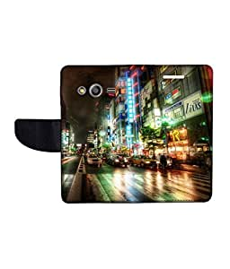 KolorEdge Printed Flip Cover For Samsung Galaxy Ace NXT Multicolor - (43KeMlogo09854SamNXT)