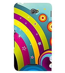Rainbow Design Pattern 3D Hard Polycarbonate Designer Back Case Cover for Sony Xperia E4 Dual :: Sony Xperia E4