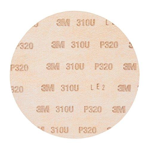 3M Hookit Schleifscheibe 310U, 150 mm, P320, ungelocht, 100 Stück / Karton