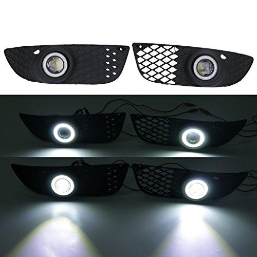Front Nebelscheinwerfer Gitter + Angel Eyes LED Convex lens Nebellampe mit Kabel (Lancer Mitsubishi Zubehör)