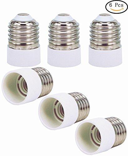 6pcs E27 zu E14 Lampe Glühbirne Basis Sockel Lampenhalter Konverter Adapter für Lampe-Wandler, LED-Lampenfassung Adapter (Glühbirne Adapter)