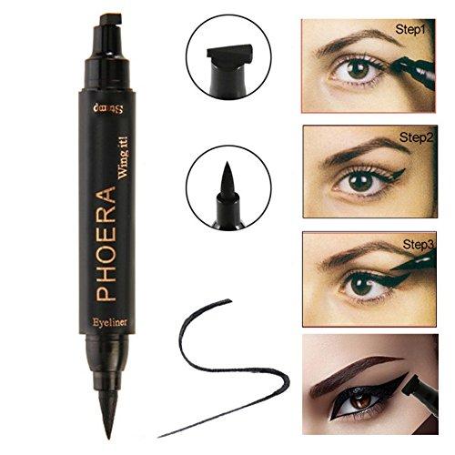 Eye Eyeliner Stempel, Hanyia Liquid Eye Liner Gel Black Eye Wing Stamp Easy to Makeup 1 Second Over Cat Eyeline Makeup tool (Thick (Up Make Look Vamp)