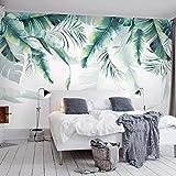HUANGYAHUI Papier Peint Forêt Tropicale Tropicale Palmier Feuilles de Banane Feuilles Mur Peinture Chambre Salon Canapé-208cm W x 146cm H
