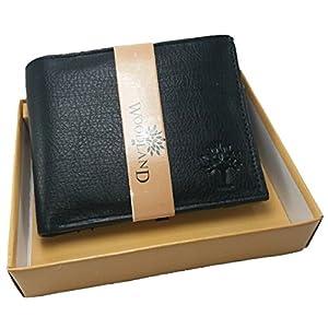 Legon Woodland Black Men's Leather Wallet