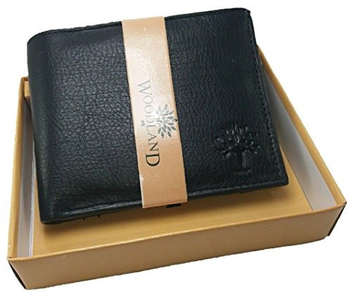 Legon Woodland Black Men's Leather Wallet