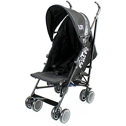 Zeta Citi Black Stroller Buggy Pushchair Buggies Prams